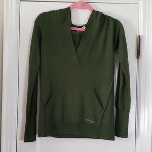 Marmot Hunter Green Sweater with Hood